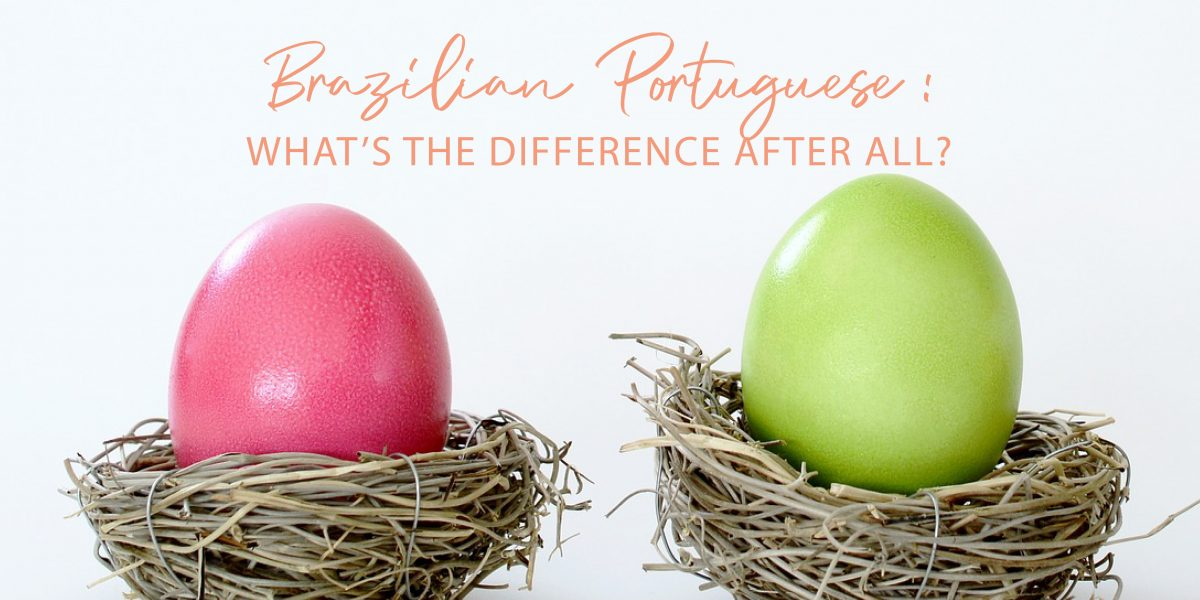 Brazilian Portuguese: what's the difference after all?